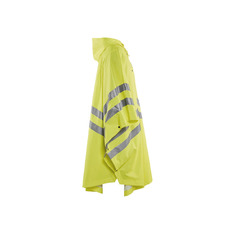 Adult High Visibility Rain Poncho with Hood